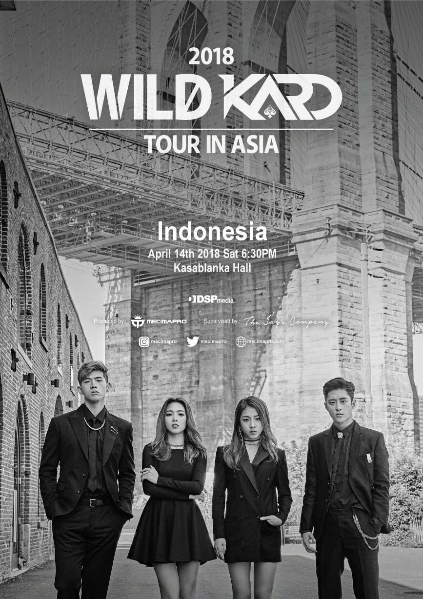 Upcoming event 2018 wild kard tour in indonesia the seoul story calling all hidden kards in indonesia get ready to go wild because kard will be greeting their indonesian fans for the first time at kasablanka hall m4hsunfo