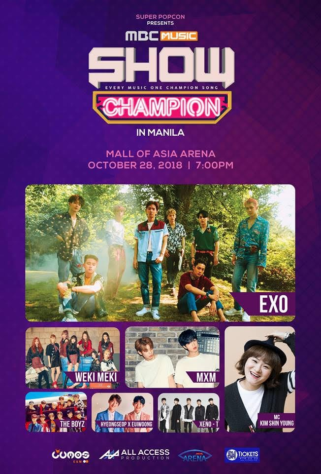 2627c2b58c6e2 UPCOMING EVENT  MBC MUSIC SHOW CHAMPION Returns to Manila this ...